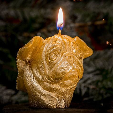 pug candles winged pug candle by pugs might fly notonthehighstreet