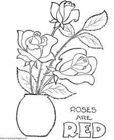 coloring pages of flowers for s day s day flower coloring pages printable