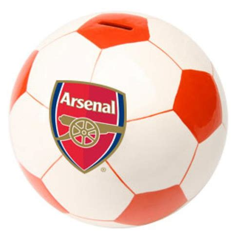 gifts for arsenal fans arsenal fc football money box iwoot