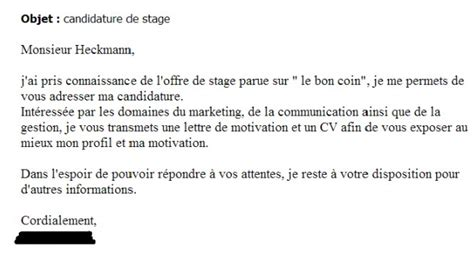 Exemple Lettre De Motivation Yves Rocher Exemple Lettre De Motivation Stage Yves Rocher