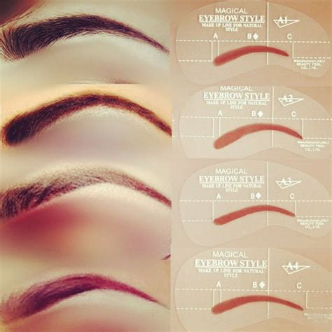 eyebrow shape template 1000 ideas about eyebrow stencil on eyebrows