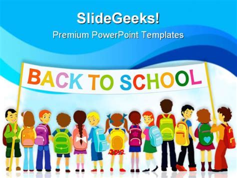 Back To School02 Education Powerpoint Template 1110 Back To School Ppt