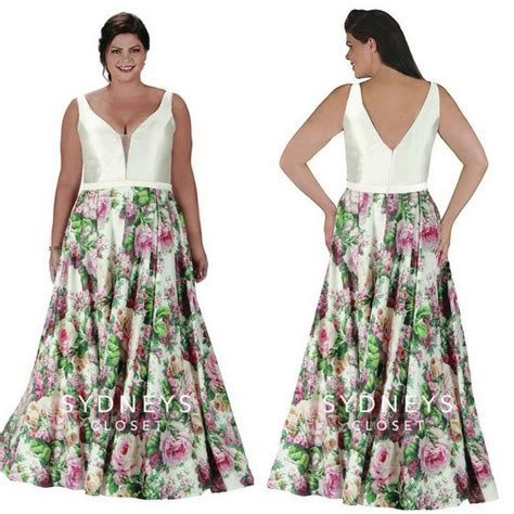 closet dress floral pattern romantic style women s size uk 89 best plus size prom dresses images on pinterest prom