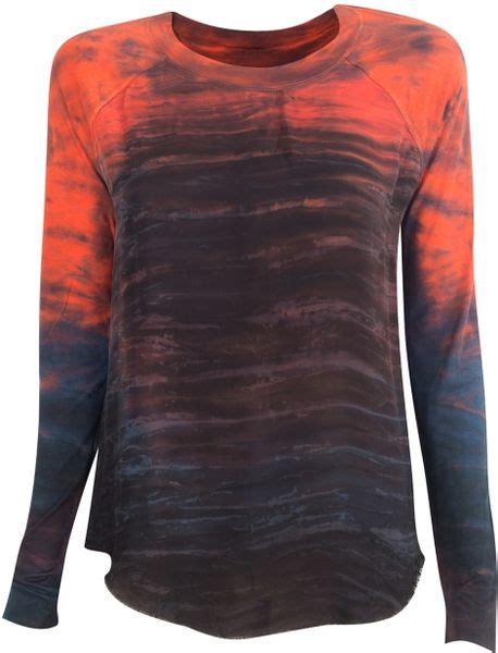 Raglan One Punch 21 Ordinal Apparel raquel allegra sleeve raglan in orange lyst