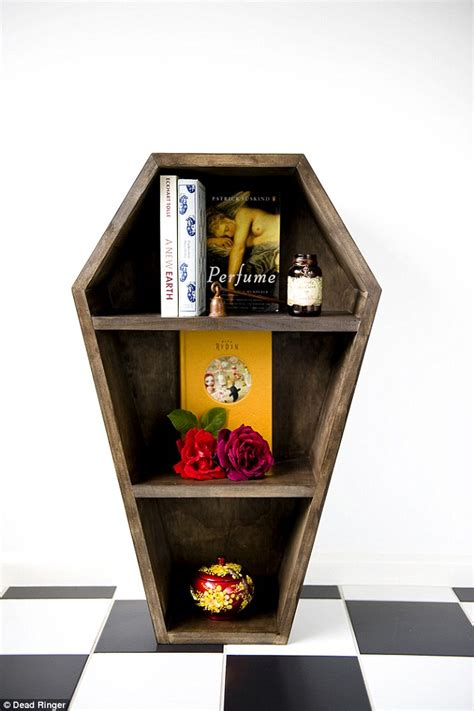 dead ringer homwares sells macabre coffin bookcases