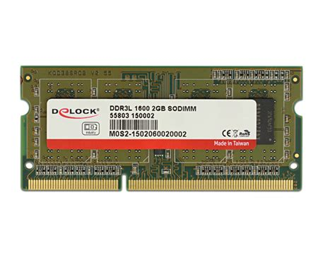V Memory Laptopnotebook So Dimm Ddr3l Low Voltage Pc12800 8gb delock products delock so dimm ddr3l 1 gb 1600 mhz 1 35 v 1 5 v 40 176 c 85 176 c industrial