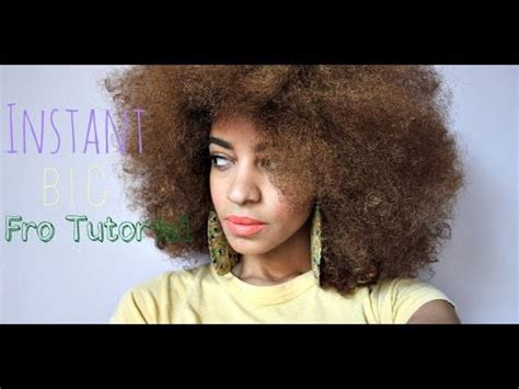 natural afro hairstyles youtube instant big afro tutorial on natural hair youtube
