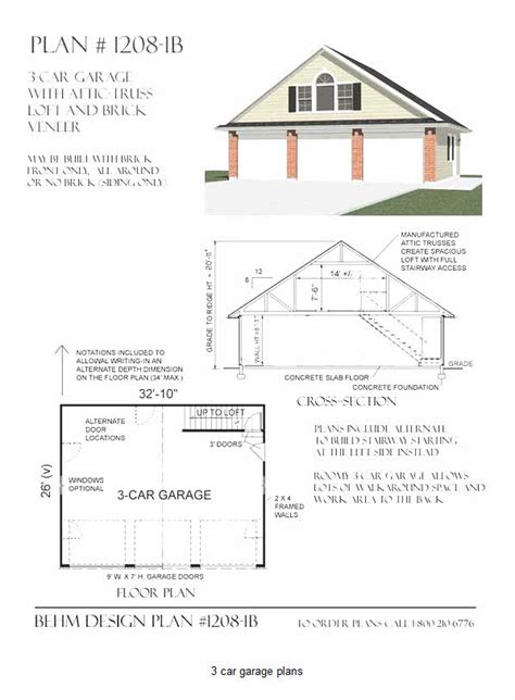 14 ideas 3 car garage plans with loft home and house 14 ideas 3 car garage plans with loft home and house