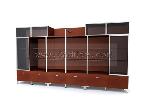 Filing Cabinet wall unit 3d model 3Ds Max files free