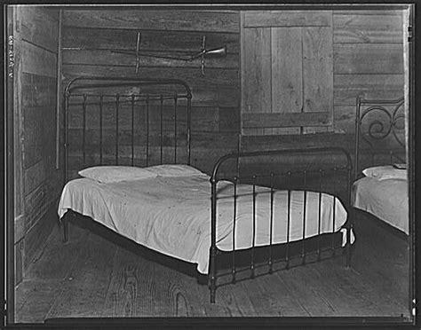 walker evans part of the bedroom of floyd burroughs cabin