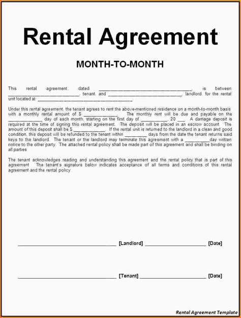 Tenancy Agreement Letter Exle 5 Tenancy Agreement Paradochart