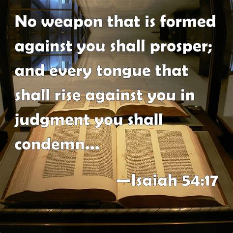 isaiah 54 17 no weapon that is formed against you shall