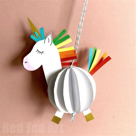 Unicorn Papercraft - easy 3d paper unicorn decoration ted s