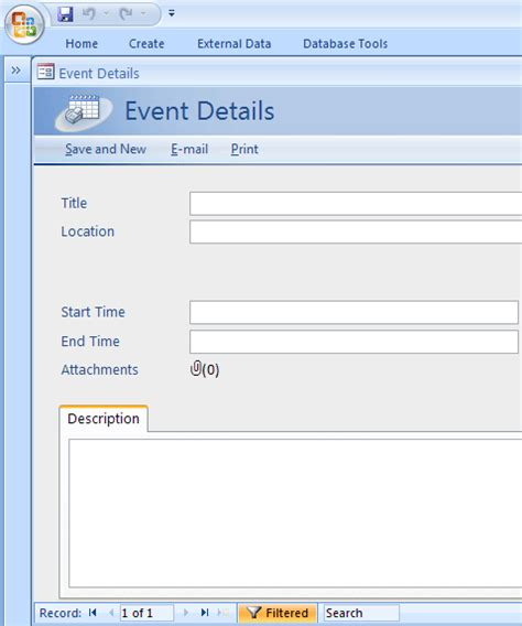 event management template personal template ms access