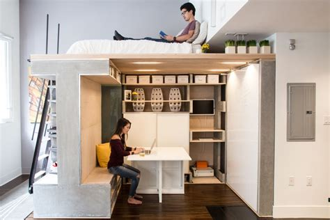 studio loft bed how to style a bed in a studio apartment beds storage