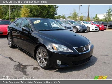 Obsidian Black 2008 Lexus Is 250 Black Interior