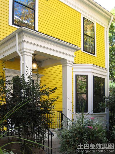 yellow color home design 别墅外墙涂料效果图 土巴兔装修效果图