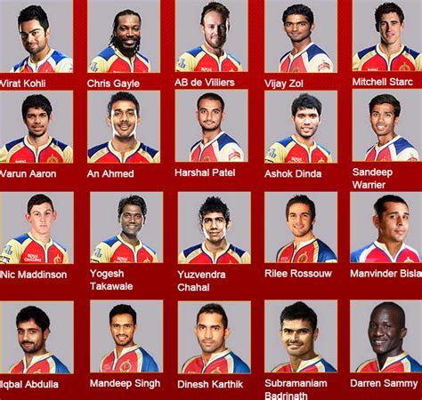 team of rcb in 2017 ipl list ipl 2016 team players calendar template 2016