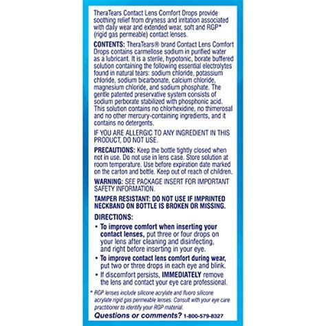 theratears contact lens comfort drops 0 5fl oz 15ml