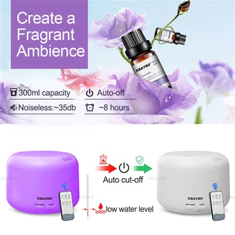 H02 Essential Aromatherapy Diffuser 7 Colors Led 300ml 300ml remote ultrasonic air aroma humidifier with
