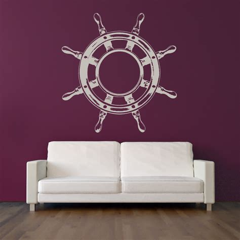 ship steering wheel helm wall sticker wall decal
