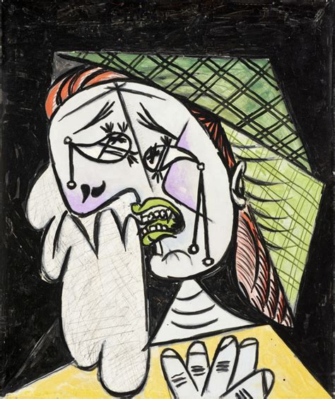 picasso paintings weeping weeping with handkerchief lacma collections