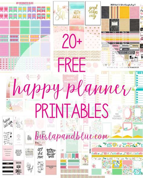 Happy Planner Printable Free | weekly planner printables free for your happy planner
