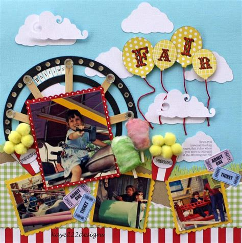 scrapbook layout ferris wheel 160 best images about scrapbook layouts state fair
