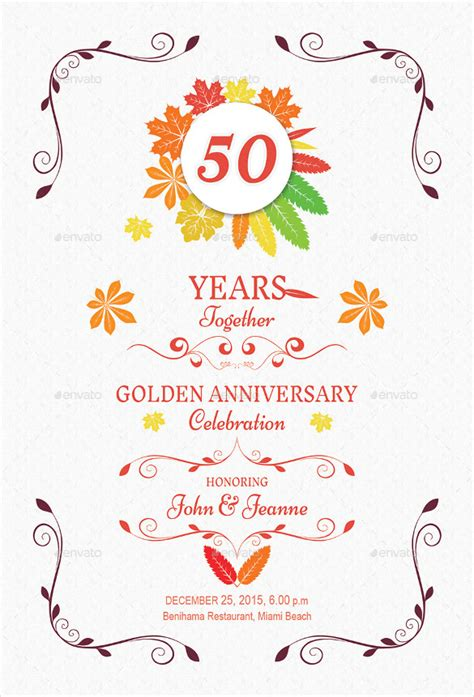 Printable 50th Wedding Anniversary Cards