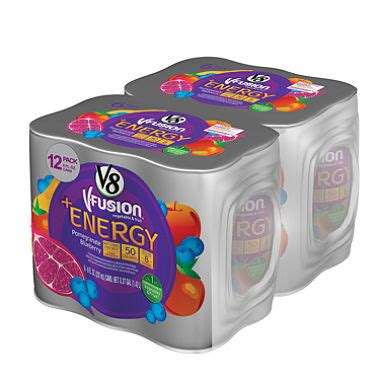 8 oz energy drinks v8 fusion energy drinks 8 oz 12 ct sam s club