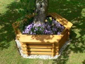 Landscape Timber Hexagon Greatgardens Wooden Hexagonal Build Around Tree Seat