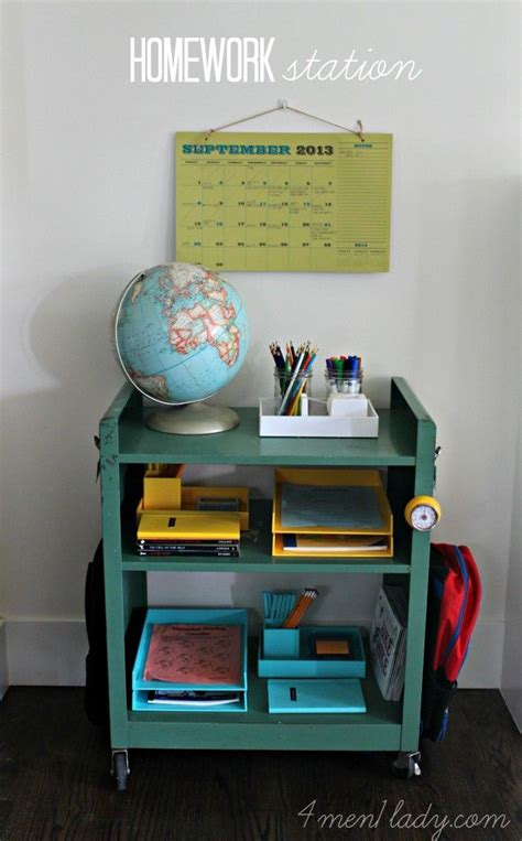 Homework Station | no more school work all over the counter no more excuses