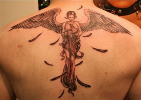 3d angel tattoo fantasy angel 3d tattoo design for man on back