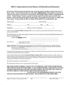 hipaa release form template sle hipaa release form 8 exles in pdf word