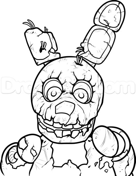How To Draw Springtrap From Five Nights At Freddys 3 Step Coloring Pages 5 Nights At Freddy S