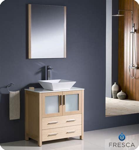 Modern Bathroom Vanity White Fresca Torino 30 Quot White Modern Bathroom Vanity Vessel Sink
