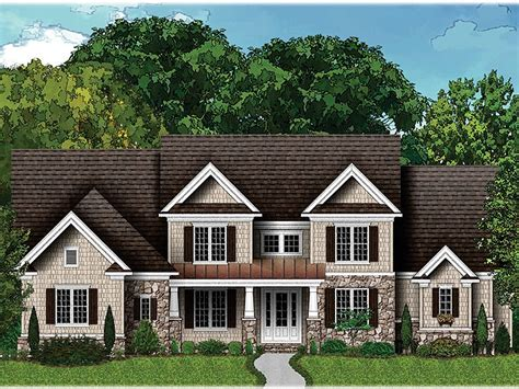 craftsman home plans two story luxury craftsman house