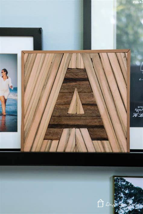diy letter decor  upcycled wood kaleidoscope living