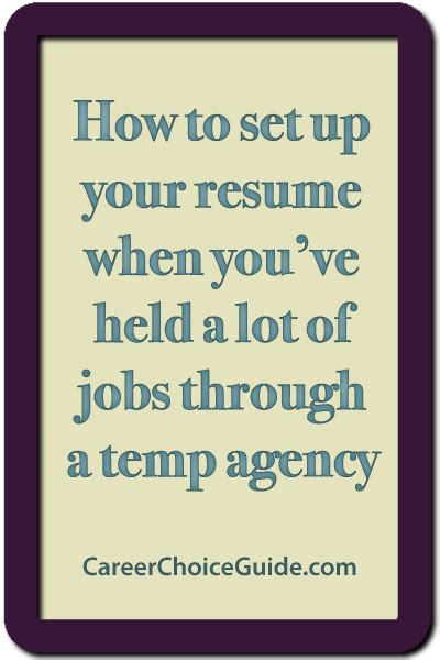Resume Temporary Agency by Sle Resume For Temporary Assignment
