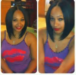 weave hairstyles with middle part middle part bob weaves bobs cuts hair pinterest