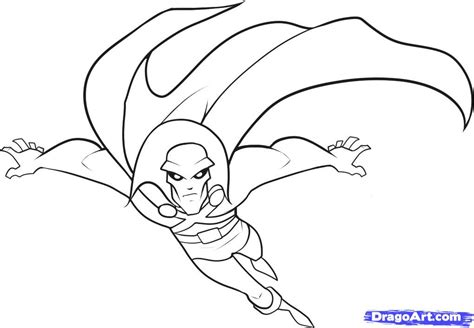 how to draw martian manhunter step by step cartoon