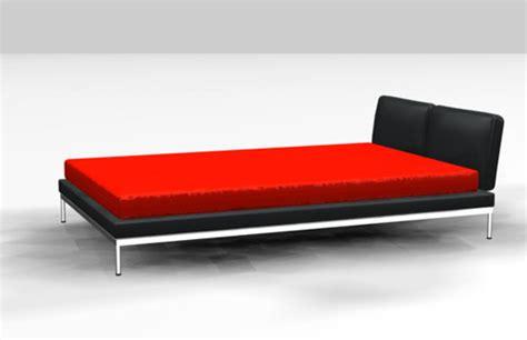 bett 3d 3d modell schwarz rot bett 3d model free