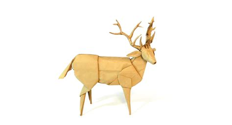 Origami Deer Diagram - gallery