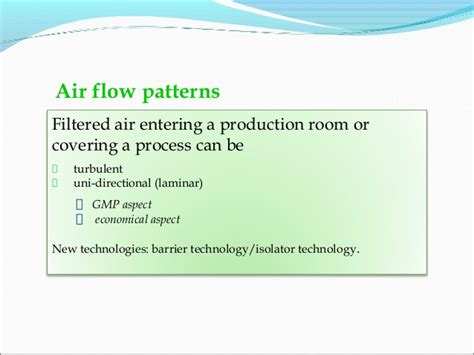 air flow pattern test in clean room hvac system in pharmaceutical industry