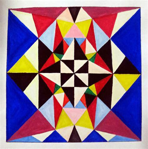 Segitiga Garis nirmana 9 susunan bidang segitiga