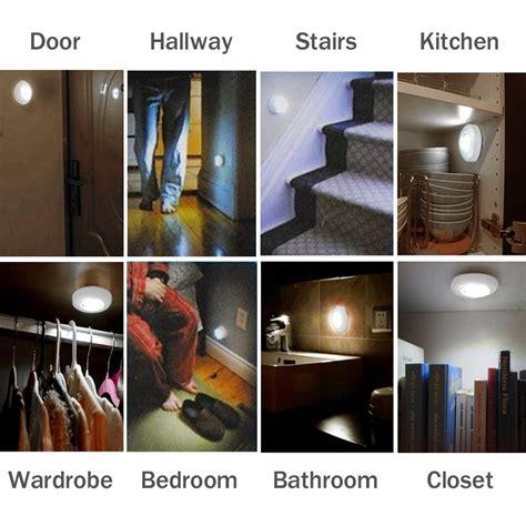 led night light sensor motion activated stairway kitchen 3 x motion sensor activated night lights stairs hallway