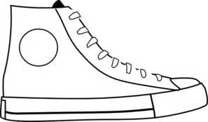 pete the cat shoe template white shoe clip at clker vector clip