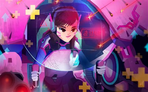 dva overwatch  artwork wallpapers hd wallpapers id