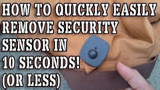 how to remove security devices from clothing alot