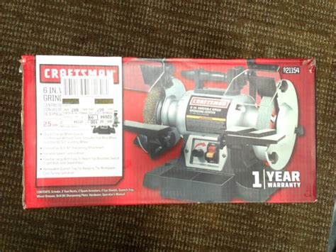 craftsman variable speed bench grinder craftsman variable speed 6 quot grinding center 21154